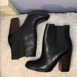 Banana Republic Black stacked ankle boots